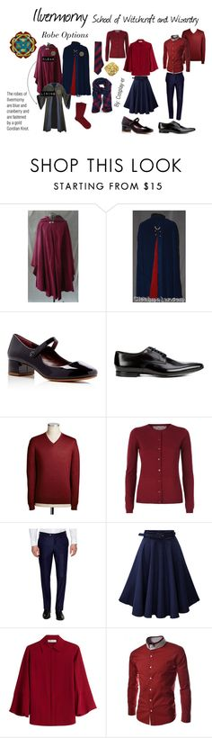 """""""Ilvermorny School of Witchcraft and Wizardry"""" by cosplay-er ❤ liked on Polyvore featuring CO, Marc Jacobs, Paul Smith, RED Valentino, Luciano Barbera, Valentino and Falke"""