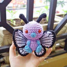 Chibi Butterfree Made-to-order Crochet Amigurumi, Pokemon plush toy