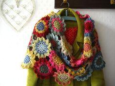 Colorful granny scarf