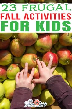"""Check out these 23 Frugal Fall Activities for Kids if you're looking for some inexpensive, family-friendly fun this Fall for the whole crew. With fall comes cooler weather, bright leaves, and plenty of opportunities for family fun. In my family, fall also means """"birthday season"""". Nearly all of my relatives, extended family included, celebrate their birthdays sometime between the start of September and the end of November.   @graciouswife #fallfunforkids #frugalkidsActivities #fallfun Autumn Activities For Kids, Outdoor Activities, Decor Crafts, Diy Crafts, Kids Zone, Kid Friendly Meals, Parenting Advice, Fun Games, Frugal"""