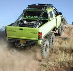 Dodge Ram 6500 6x6 so cool ,love the lime green too