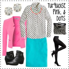 """Turquoise, Pink, and Dots"" by deneet on Polyvore"