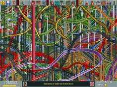 My current game of Rolller Coaster Tycoon