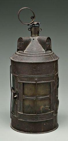 18th Century Tin and Horn Lantern.