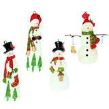 """7"""" Snowman Ornaments; 4 styles to choose from."""