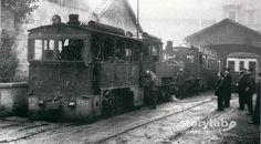 """Un tempo ...  Stazione e deposito """"Gamba De Legn"""" di Bergamo 1955"""