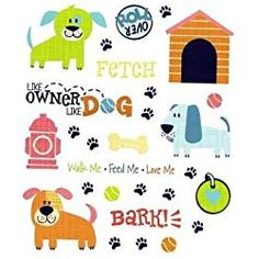 Puppy Dog - Dog Theme Stickers - 2 Sheets