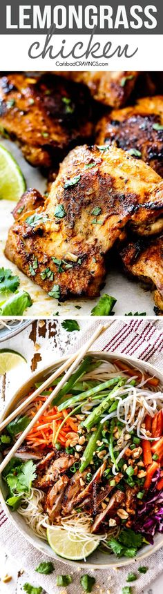This Lemongrass Chicken was amazing, my whole family loved it! Fragrant, juicy… This Lemongrass Chicken was amazing, my whole family loved it! Fragrant, juicy and SO flavorful! via Carlsbad Cravings Best Chicken Recipes, Turkey Recipes, Asian Recipes, Recipe Chicken, Healthy Recipes, Marinade Chicken, Paleo Dinner, Dinner Recipes, Carlsbad Cravings