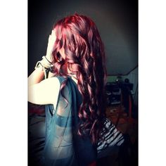 red Hairstyles for Long Hair ❤ liked on Polyvore featuring beauty products, haircare, hair styling tools and hair