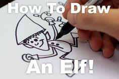 How to draw a crazy Christmas elf!