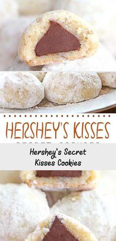 Hershey's Secret Kisses Cookies - Cookie Recipe Ideas Kiss Cookie Recipe, Kiss Cookies, Drop Cookies, Fun Cookies, Lactation Muffin Recipe, Lactation Recipes, Lactation Cookies, Brewers Yeast Breastfeeding, Breastfeeding Foods