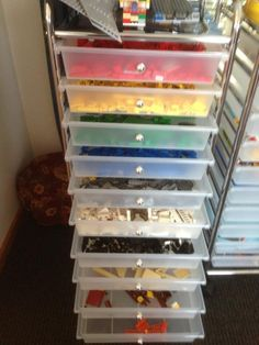 40  Awesome Lego Storage Ideas...I really want one of these storage 'carts' for our Legos!
