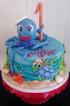 Fresno wedding cakes, cupcakes, cake pops, birthday cakes | Baby Einstein Birthday Cake | Frosted Cakery