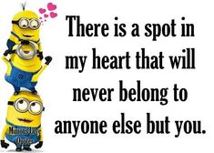 Minions Love Quotes More Mehr Minion Love Quotes, Minions Love, Minions Quotes, Minions Pics, Funny Quotes, Me Quotes, Friend Quotes Humor, Qoutes, Karma