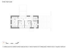 Small House With a Great View by A1 Architects, upper floor plan