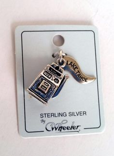 925 Sterling Silver 3D Casino Slot Machine Lake Tahoe Charm NWT #Wheeler #Traditional