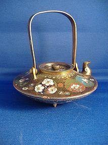A Goldstone and Cloisonné Teapot, Japanese Meiji Period