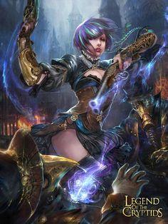 legend of cryptids work, Hoy Ohla Fantasy Art Women, Fantasy Girl, Dark Fantasy, Fantasy Characters, Female Characters, Character Art, Character Design, Mtg Art, Fantasy Setting