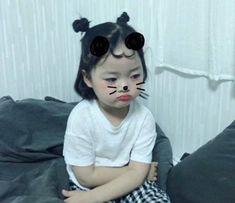 Cute Asian Babies, Korean Babies, Asian Kids, Cute Babies, Cute Baby Meme, Baby Memes, Cute Baby Girl, Kids Girls, Baby Kids