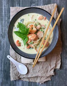 Thai Green Curry - grünes Thaicurry mit Garnelen. Wie ihr das leckerste Thaicurry zubereitet (und das auch noch schnell)