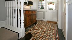 Gallery of tile installations photos floor victorian hallway ideas . Victorian Hallway Tiles, Tiled Hallway, Entryway Flooring, Hall Flooring, Ceramic Floor Tiles, Tile Floor, Mosaic Floors, Tiles London, Brick Fireplace Makeover