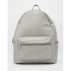 Daisy Street Backpack ($28) ❤ liked on Polyvore featuring bags, backpacks, grey, grey backpack, knapsack bags, gray backpack, grey bag and rucksack bag