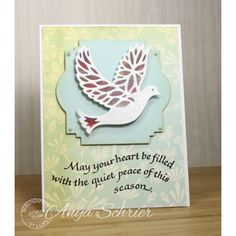 Serendipity Stamps May Your Heart Be Filled stamp and Bird Die were used to make this Christmas Card