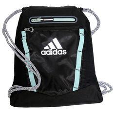 0eeda914452b Adidas Rumble II Drawstring Backpack Accessories (Black Aqua Silver)  Drawstring Backpack