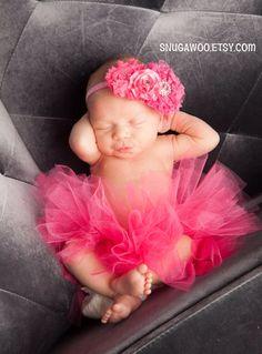 newborn tutu and headband pics