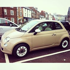 Fiat 500 love. New age cream... Italian latte vroom vroom x