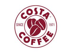 Costa coffee logo for faux grain sack graphic Coffee Shop Logo, Coffee Branding, Coffee Grounds As Fertilizer, Starbucks, London Logo, Coffee Coupons, Costa Coffee, Circular Logo, Coffee Subscription