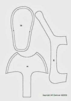 Molde sandália de tecido