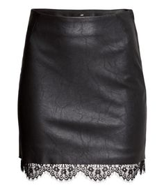 Leather Lace Skirt | H&M