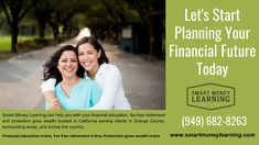 Financial education Irvine ☎ can help you with your financial education, tax-free retirement and protection grow wealth located in California . Tax Free, Retirement, Wealth, Success, Let It Be, Money, Business Entrepreneur, How To Plan, Education
