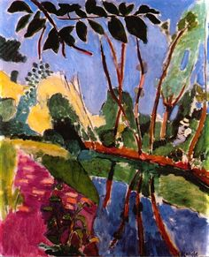The Riverbank - Henri Matisse. Matisse taught me that color is okay. Henri Matisse, Matisse Kunst, Matisse Art, Matisse Pinturas, Matisse Paintings, Raoul Dufy, Post Impressionism, Oeuvre D'art, Love Art