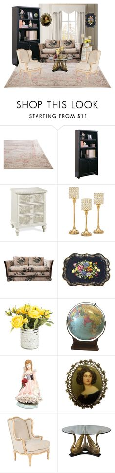 """vintage room"" by queendona77 ❤ liked on Polyvore featuring interior, interiors, interior design, home, home decor, interior decorating, Jaipur, Kathy Ireland, Godinger and KING"