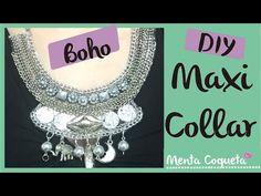 DIY maxi collar plateado - YouTube