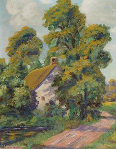 Karl Albert Buehr - 'Cottage by the Road'