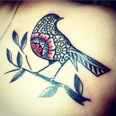 54 Best Ideas For Tattoo Bird Mandala Love Dad Tattoos, Music Tattoos, Couple Tattoos, Foot Tattoos, Girl Tattoos, Sleeve Tattoos, Elk Tattoo, Flower Tattoo On Ribs, Tattoo Fonts