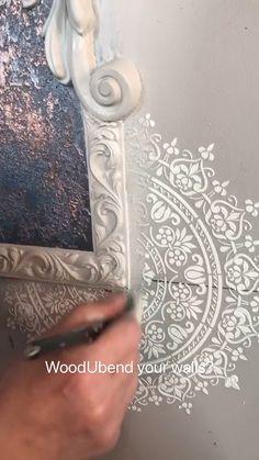 Wall Texture Design, Wall Design, Diy Design, Funky Furniture, Paint Furniture, Furniture Makeover, Diy Crafts For Home Decor, Diy Resin Crafts, Diy Wall Art