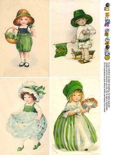 St. Patty's Day Postcard Sheets