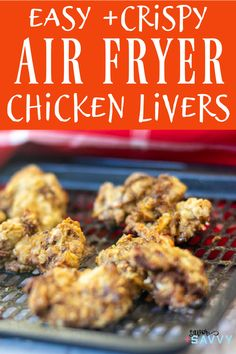 Make these quick and easy crispy Air Fryer Chicken Livers in just 10 minutes! These are simple and delicious. #airfryer #airfryerchickenlivers Oven Chicken, Crispy Chicken, Liver Recipes, Diabetic Recipes, Cooks Air Fryer, Air Fry Recipes, Chicken Livers, Great Appetizers, Easy Snacks