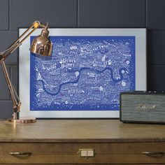 This brand new edition (August 2016) of Dex's award-winning Literary London Map is screenprinted on to gorgeous royal blue plike paper, using...