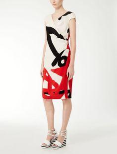 Max Mara KIOTA red: Silk crêpe de chine dress.