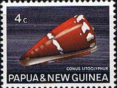 Papua New Guinea 1968 Sea Shells Fine Mint SG 139 Scott 267 Other Papua Stamps HERE