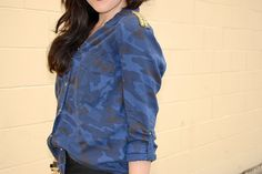 Zara camouflage blouse