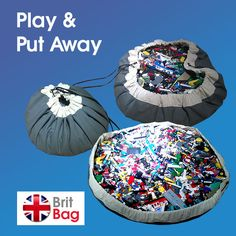 BritBag Lego Brio Toy Storage Bag Playmat Battleship by BritBagUK