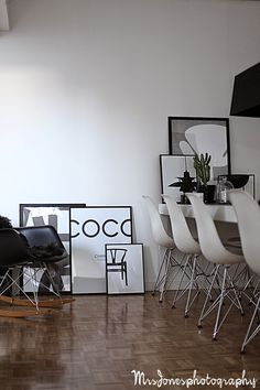 New York Loft, London Apartment, White Walls, Old And New, Dining Table, Interiors, Interior Design, Lifestyle, Chair