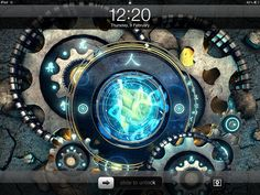 Jeff Huang's wallpaper via iSource. I overlaid a name and phone number and used it on my son's iPad. Very Cool.