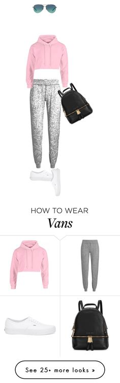 """Untitled #2297"" by misnik on Polyvore featuring Sweaty Betty, Vans, Tiffany & Co. and Michael Kors"